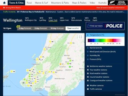 Get your weather station on the MetService Your Weather map