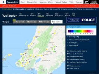 New Zealand MetService YourWeather